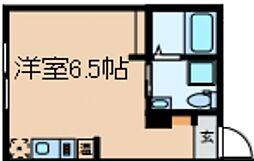 ブライトリッチ 1階ワンルームの間取り