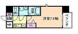 レジュールアッシュ福島FINO[4階]の間取り