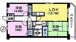 プレステージ平和台1番館[3階]の間取り