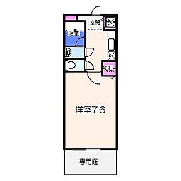 泉北高速鉄道 和泉中央駅 徒歩14分の賃貸アパート 2階1Kの間取り