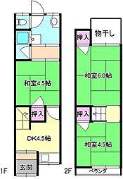 [一戸建] 大阪府枚方市東船橋2丁目 の賃貸【/】の間取り