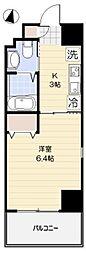 東京メトロ丸ノ内線 新大塚駅 徒歩8分の賃貸マンション 5階ワンルームの間取り