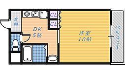 フル−リ深井[5階]の間取り