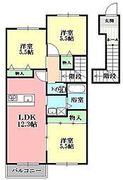 シャーメゾンコートKII[202号室]の間取り