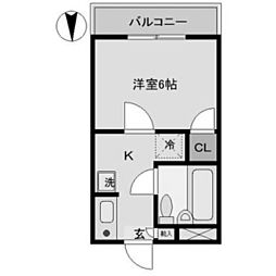 メゾンI[1階]の間取り