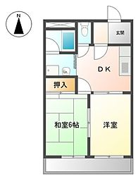 レスト上郷[2階]の間取り