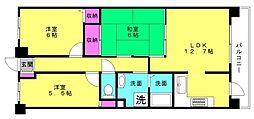 グランプレステージ加古川2[202号室]の間取り