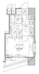ファーストリアルタワー新宿(旧 アクス・ザ・タワー新宿) 16階1Kの間取り