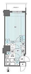 フェニックス西参道タワー 8階1Kの間取り