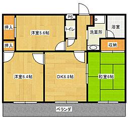 静岡県藤枝市高柳1丁目の賃貸マンションの間取り