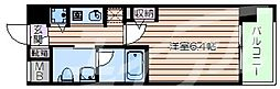 Osaka Metro千日前線 桜川駅 徒歩1分の賃貸マンション 6階1Kの間取り