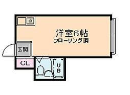 昭和グランドハイツ西九条[1階]の間取り