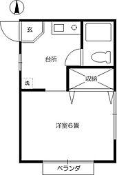 ジュンハウス[1階]の間取り