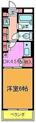 千葉県松戸市栗山の賃貸マンションの間取り