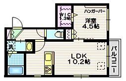 Verisa Kamiyoga 3階1LDKの間取り