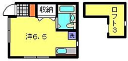 CASA白楽[2B号室]の間取り