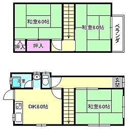 [一戸建] 大阪府交野市倉治2丁目 の賃貸【/】の間取り