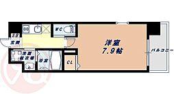 Osaka Metro千日前線 桜川駅 徒歩9分の賃貸マンション 10階1Kの間取り