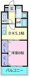 アミアミマンション[2階]の間取り