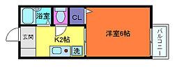 兵庫県神戸市灘区下河原通3丁目の賃貸アパートの間取り
