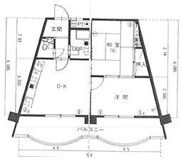 倉敷サンコーポ[507号室]の間取り