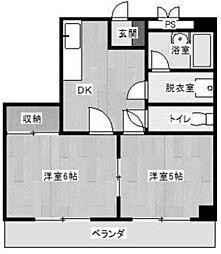 神奈川県川崎市多摩区菅北浦1丁目の賃貸マンションの間取り