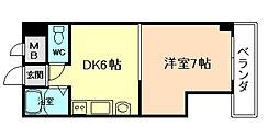ハイネス岡崎[6階]の間取り