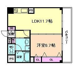 ドミール堂島[9階]の間取り