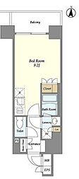東京メトロ半蔵門線 錦糸町駅 徒歩9分の賃貸マンション 2階ワンルームの間取り