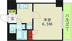 ララプレイス・ザ・京橋ステラ 3階1Kの間取り