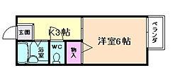 大阪府池田市姫室町の賃貸アパートの間取り