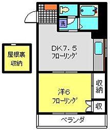 神奈川県横浜市金沢区片吹の賃貸マンションの間取り