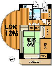 ペルソナージュ横浜[416号室]の間取り