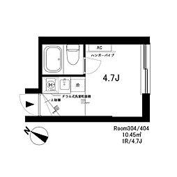 SH3198[3階]の間取り