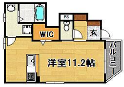 Osaka Metro今里筋線 瑞光四丁目駅 徒歩4分の賃貸アパート 1階ワンルームの間取り
