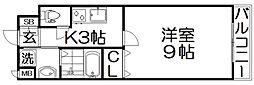 (仮称)枚方伊加賀東町PJ 4階1Kの間取り