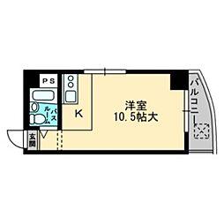 東峰マンション福岡県庁前[502号室]の間取り