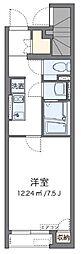 西武池袋線 東久留米駅 徒歩8分の賃貸アパート 1階1Kの間取り