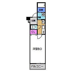 JR阪和線 百舌鳥駅 徒歩7分の賃貸アパート 3階1Kの間取り