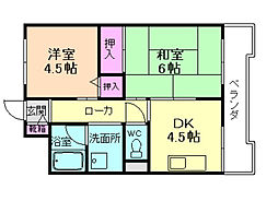 大阪府豊中市南桜塚4丁目の賃貸マンションの間取り