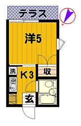 ハイツコーノ[103号室]の間取り