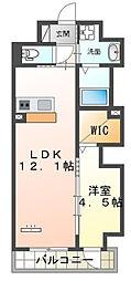仮)本町新築マンション 7階1LDKの間取り