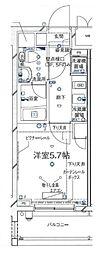 Rising place HORIKIRI 9階1Kの間取り