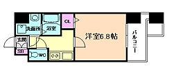アドバンス東梅田アクシス[3階]の間取り