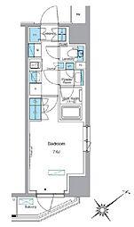 東武東上線 下赤塚駅 徒歩2分の賃貸マンション 2階1Kの間取り