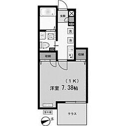 ヴィゴーレ5[1階]の間取り