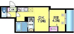J.maison ジェイメゾン 1階1DKの間取り