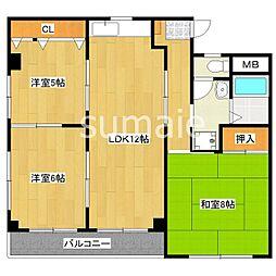 市川コーポ3[2階]の間取り