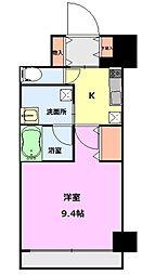 S-FORT新潟本町 9階1Kの間取り