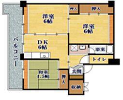 ビレッジハウス小堀II[5階]の間取り
